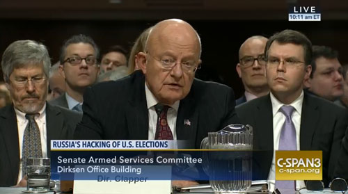 James Clapper in zijn reactie op de DNC hacks